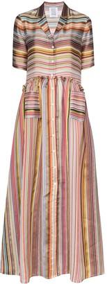 Rosie Assoulin Striped Maxi Shirt Dress