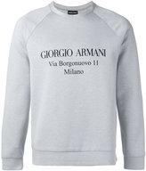 Giorgio Armani logo print sweatshirt - men - Cotton/Polyamide - 48