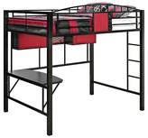 Powell Company Garage Loft Bed Metal/Red/Black