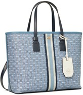 Tory Burch GEMINI LINK CANVAS SMALL TOP-ZIP TOTE