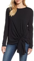 Caslon Women's Long Sleeve Side Tie Tee