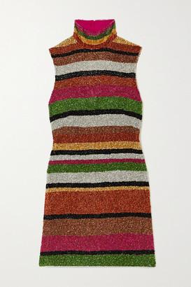 Ashish Open-back Sequined Chiffon Mini Dress - Red