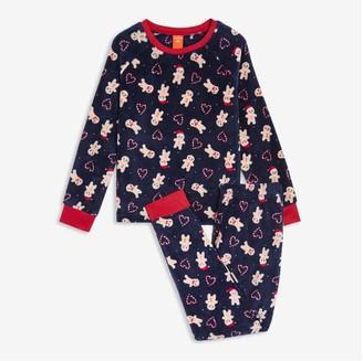 Joe Fresh Kid Girls' 2 Piece Print Sleep Set, Dark Navy (Size L)