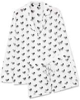 Equipment Lillian Printed Washed-silk Pajama Set - White