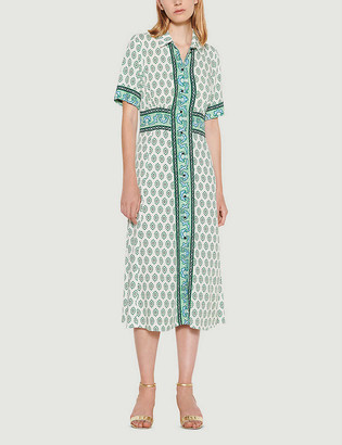 Sandro Naima abstract-print woven mini dress