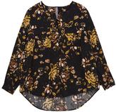 Melissa McCarthy Black Jungle Floral Utility-Pocket Button-Up Top - Plus