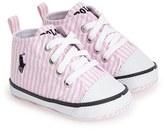Ralph Lauren 'Bal Harbour Hi' Sneaker (Baby)