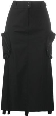 Hyein Seo Cargo-Pockets Midi Skirt