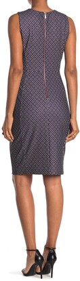 Calvin Klein Diamond Print Sheath Dress