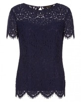Jaeger Lace Open-Back Top