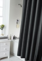 Spectrum 180 x 180 cm Shower Curtain and Rings Set, Black