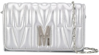 Moschino monogram quilted evening bag