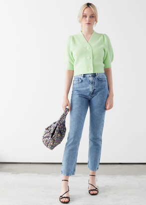 And other stories High Rise Acid Wash Jeans
