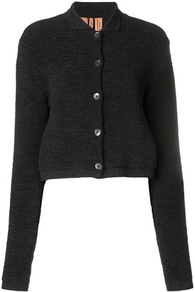 Romeo Gigli Pre Owned Cropped Textured Cardigan