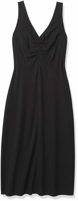 Vince Women's Double Ruched V-Neck Dress