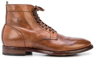 Officine Creative Lace-Up Ankle Boots