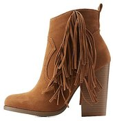 Charlotte Russe Side Fringe Ankle Booties