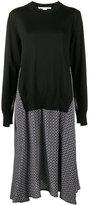 Stella McCartney Printed Dress with Sweater Overlay - women - Silk/Virgin Wool - 36