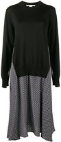 Stella McCartney Printed Dress with Sweater Overlay - women - Silk/Virgin Wool - 40