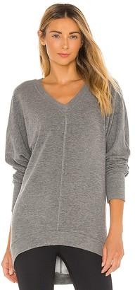 Bobi Cozy Heathered Knit Sweatshirt