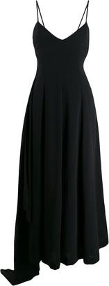 Ami Paris Draped Side-Panel Dress