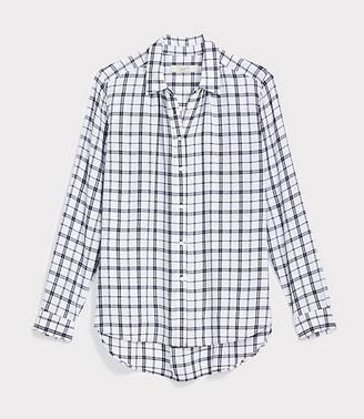 LOFT Petite Plaid Hi-Lo Tunic Shirt