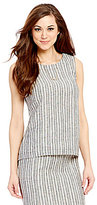 Antonio Melani Meredith Stripe Linen Back Split Detail Top