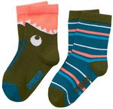Gymboree Dino & Stripe Socks