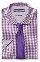 Graham & Graham Men's Gingham Dress Shirt & Solid Tie Set Purple - Graham & Graham