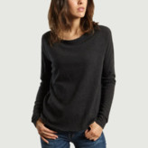 American Vintage Charcoal Gray Cotton Long Sleeves Sonoma T-Shirt - cotton | charcoal grey | small - Charcoal grey