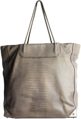Alexander Wang Gray Lizard Leather Prisma Tote Bag