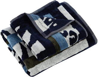 Carrara - Savana Towel - Blue - Guest & Hand Towel Set