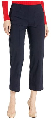Elliott Lauren Control Stretch Pull-On Pants with Center Front Pockets (Navy) Women's Casual Pants
