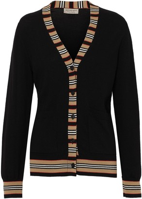 Burberry Icon stripe cardigan