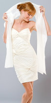 Mignon Pleated Ivory Cocktail Dresses