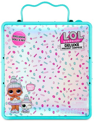 L.O.L Surprise! Deluxe Present Surprise with Limited Edition Sprinkles Doll and Pet - Teal