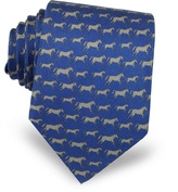 Laura Biagiotti Horses Print Silk Tie