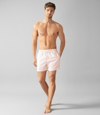 Reiss SIMON SEERSUCKER SWIM SHORTS Pink