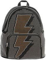 Les Petits Joueurs Studded Bolt Suede & Leather Backpack