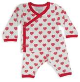 Coccoli Cranberry & Almond Size 3M Take Me Home Hearts PJs in Red