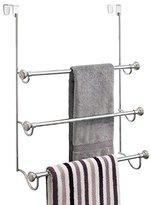 InterDesign York Metal Over the Shower Door 3-Bar Towel Rack, Split Finish