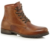 Mantaray Brown Leather Lace Up Boots