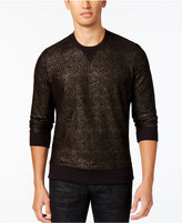 INC International Concepts Men's Gold Foil Coated Sweatshirt, Only at Macy's