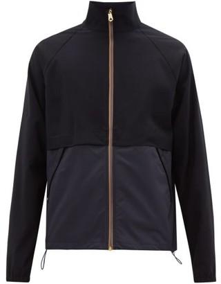 Paul Smith Artist-stripe Panelled Wool-blend Jacket - Mens - Navy