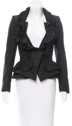Givenchy Ruffled Fitted Jacket