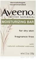 Aveeno Active Naturals Fragrance-Free Moisturizing Bar, 4 Count