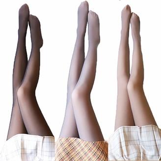 Venida Fleece Lined Leggings Flawless Legs Fake Translucent Warm Fleece Pantyhose Women Warm Fleece Lined Slim Stretchy Leggings (Brown 320g)