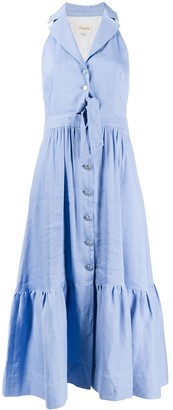 Temperley London Button-Down Sleeveless Chambray Shirtdress
