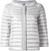 Herno zipped puffer jacket - women - Cotton/Feather Down/Polyamide/Polyester - 46