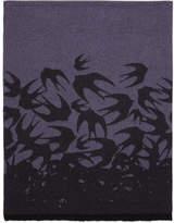 McQ Purple Swallow Degrade Scarf